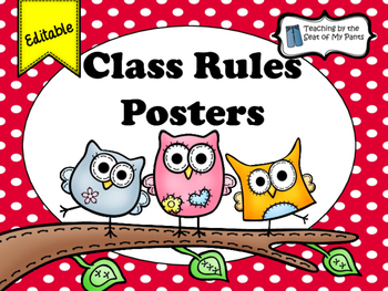 Editable: Wise Choices Classroom Rules Posters