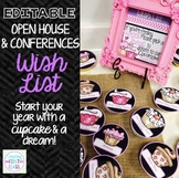 Back to School Editable Wish List for Open House & Conferences: Bright & Sweet!