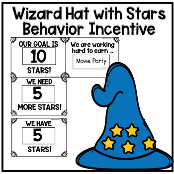 Editable Wizard Hat and Stars Behavior Math Reward System