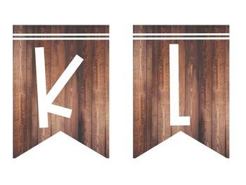 Editable Wood Banners