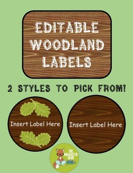 Editable Woodland Labels
