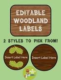 Editable Woodland Labels
