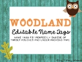 Editable Woodland Name Tags