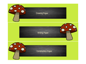 Editable Woodland and Chalk Theme Labels