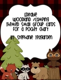 Editable Woodland/Camping Theme Workstation Group Cards