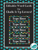 Editable Word Cards for Chalk It Up Lovers