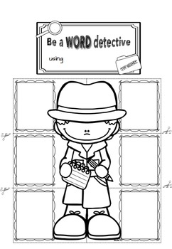 Editable Word Detective Interactive Notebook (for any word list or text)
