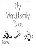 Editable Word Family House Booklet