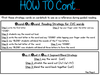 Editable Word Family Strips for Guided Reading