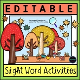 Editable Sight Word Games and Activities {Fall Theme}