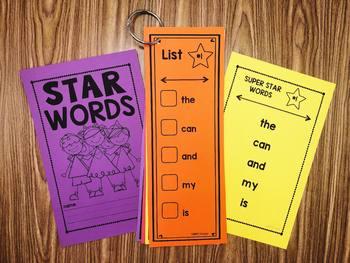 Editable Word Lists with Printables