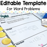 Editable Word Problem Template | in English
