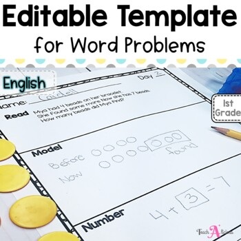 Editable Word Problem Template   in English