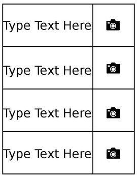 Editable Word Wall Card Template