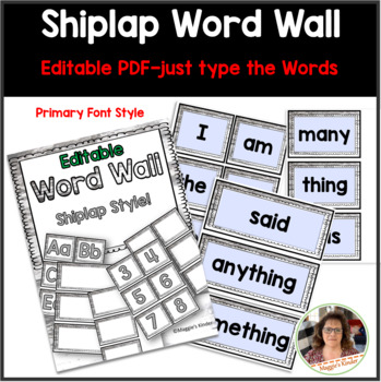 Editable Word Wall Cards Pack {Shiplap Style}