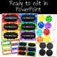 Editable Word Wall- Chalkboard Brights Classroom Decor