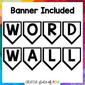 Editable Word Wall Display