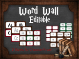 Editable Word Wall: Harry Potter Inspired