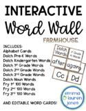 Editable Word Wall - Interactive, Portable, Engaging! *FARMHOUSE*