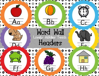 Editable Word Wall Labels