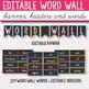Editable Word Wall Letters Chalkboard - Bright Classroom Decor