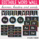 Editable Word Wall Letters - Bright Classroom Decor