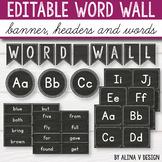 Editable Word Wall Letters - Chalkboard Classroom Decor