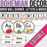 Editable Word Wall Letters, Word Wall Words, Alphabet Posters Tribal Classroom
