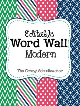 Editable Word Wall {MODERN}