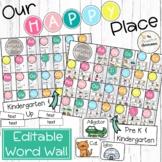 Editable Word Wall   Our Happy Place Classroom Decor   Rai