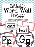 Editable Word Wall {PREPPY}