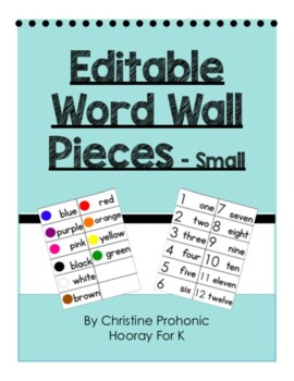 Editable Word Wall Pieces - Small