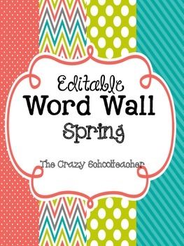 Editable Word Wall {SPRING}