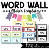 Editable Word Wall Templates