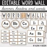 Editable Word Wall Letters Farmhouse Classroom Decor