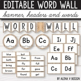 Editable Word Wall Letters - Farmhouse Classroom Decor