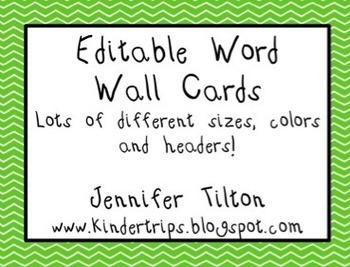 Editable Word Wall in Brights and Primary & Popcorn and Star Word Themes