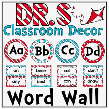 Editable Word Wall in a Dr S Decor Theme