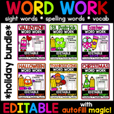 Editable Word Work BUNDLE