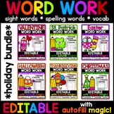 Editable Word Work BUNDLE
