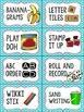 Editable Word Work Labels: Bright Blue Polka Dot