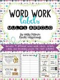 Editable Word Work Labels: Multi Arrows