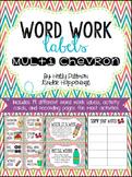 Editable Word Work Labels: Multi Chevron