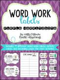 Editable Word Work Labels: Purple Herringbone