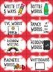 Editable Word Work Labels: Red Diamonds