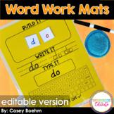 Editable Word Work Mats