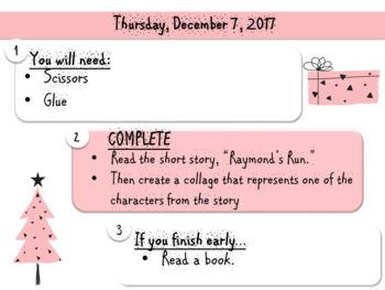 Editable Work Template (Christmas)