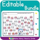 Editable Worksheets Bundle MHS3