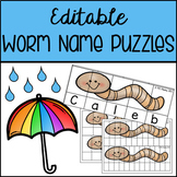 Editable Worm Name Puzzle Templates