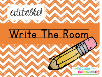 Editable Write The Room Cards and Recording Sheets